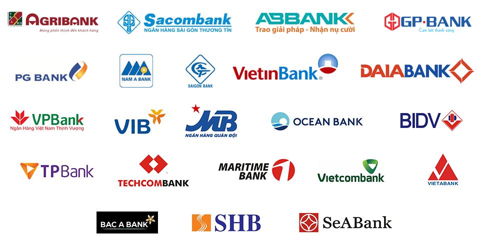 bán xe trả góp với Hệ thống ngân hàng cho vay