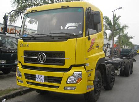 Xe Tải Dongfeng Thùng 2 Cầu 2 Zí (8×4) – Động cơ L315
