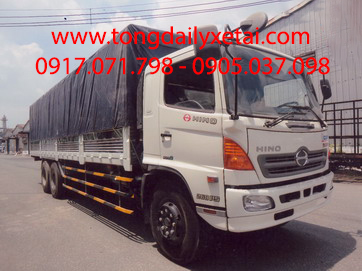 Xe tải Hino FL8JTSL mui bạt (15.4 tấn)