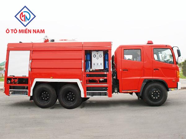 Xe chữa cháy Hino FM chở và tiếp foam 12 khối