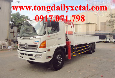 Xe tải Hino FL8JTSL gắn cẩu 2016 (15 tấn)