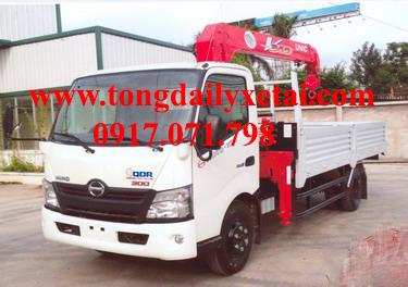 Xe tải Hino XZU730L gắn cẩu (3.8 tấn)