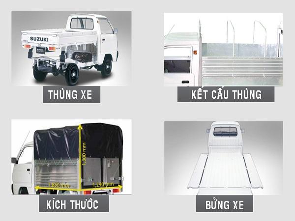 Xe Suzuki Truck Mui Bạt