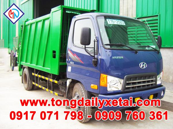 Xe Tải Hyundai HD72 (3.5 Tấn ) Ép Rác 7m3