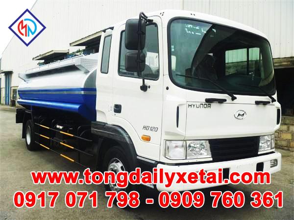 Xe Tải Hyundai HD120( 5.5 Tấn) Chở Xăng Dầu 10m3