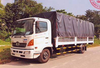 Xe tải Hino FC9JLSW (5.95TẤN) Thùng Mui Bạt