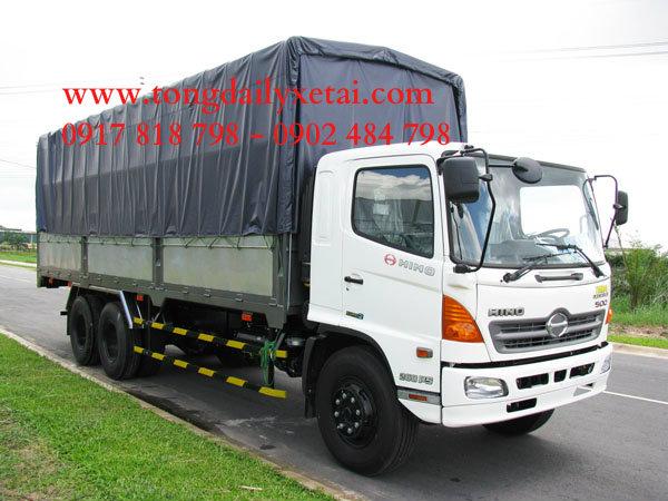 Xe tải Hino FG8JPSL (9 tấn dài) mui bạt