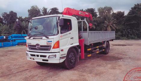 Xe tải Hino WU342L gắn cẩu