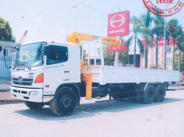 Xe tải hino FL8JTSL Gắn Cẩu Soosan SCS513