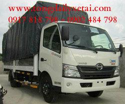 Xe tải Hino XZU650  (1.9 Tấn) Mui bạt
