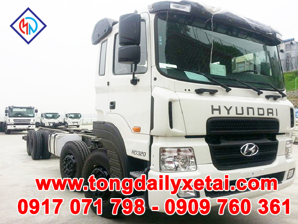Xe Tải Hyundai HD320 19 Tấn Cabin Chassis