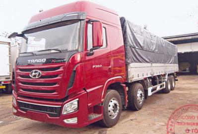 Xe Tải Hyundai Trago Xcient 17 tấn Thùng Mui Bạt