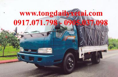 Xe tải Kia THACO K165 Mui bạt (1.6 tấn)