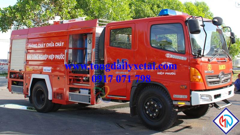 Xe Chữa Cháy Hino FG 6 Khối (Trang Bị Foam + Bột)