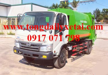 Xe tải Hino WU342L chở rác 2016
