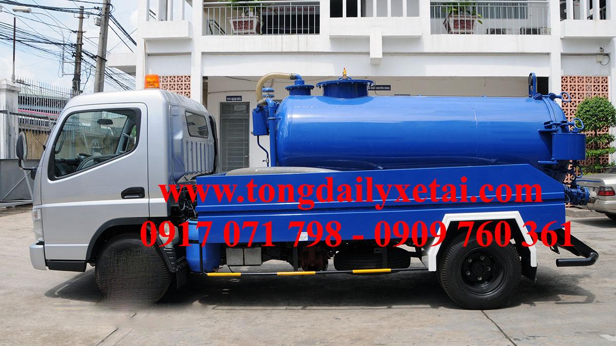 Xe tải Isuzu hút chất thải 1,6 khối