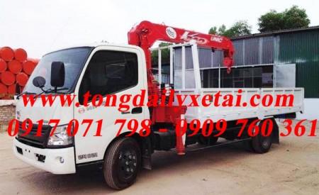 Đánh giá xe tải Hino XZU720L gắn cẩu 2016