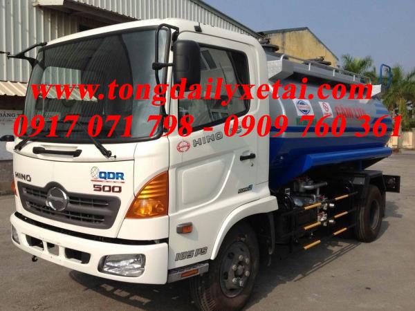 Xe tải Hino FC9JESW chở xăng 2016