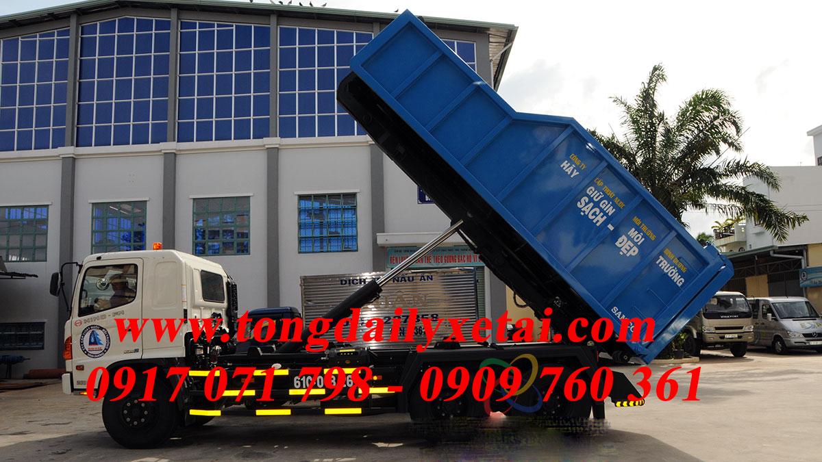 Xe Hooklift Chở bùn 11 khối