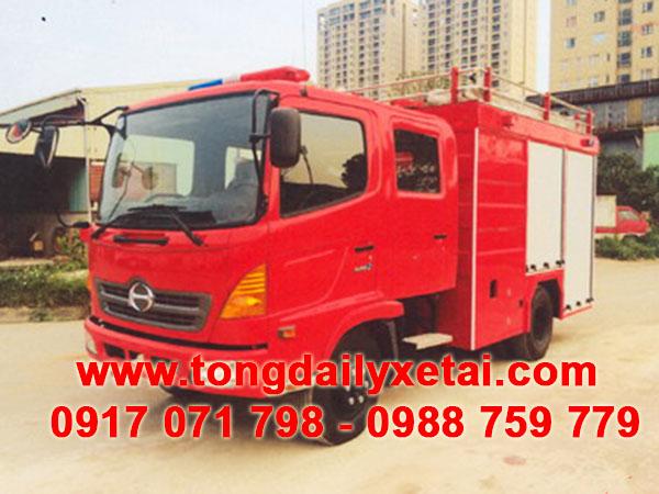 xe tải hino chữa cháy cứu hỏa