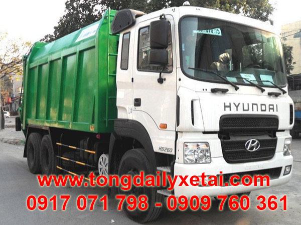 Xe Chở Rác Hyundai HD260 Thùng 20 Khối