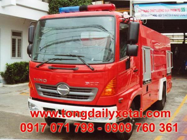 xe chữa cháy hino FC 4.3 khối