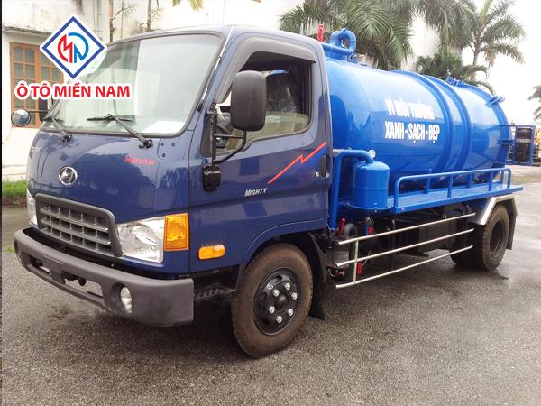 Xe Hút Chất Thải 3 Khối Hyundai HD72