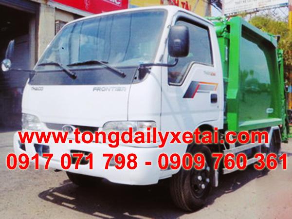 Xe Chở Rác Thaco K165 3 Khối