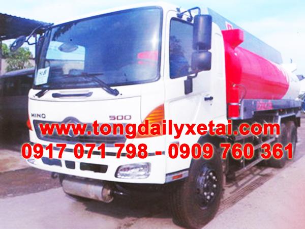 xe tải hino bồn chở xăng dầu 18 khối