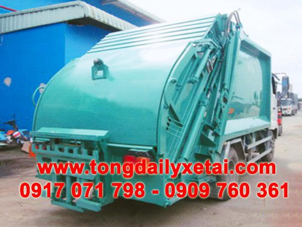 xe tải hino chở rác 6 tấn