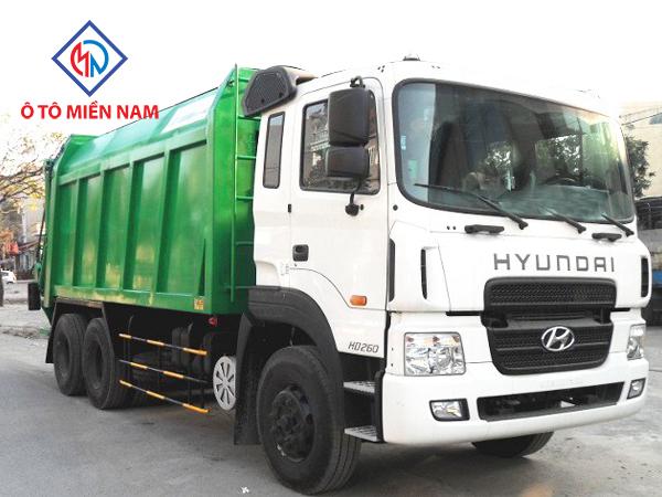 Xe Chở Rác Hyundai HD260 Thùng Chứa Rác Rời 20 Khối