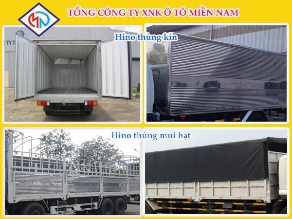 Xe tải hino 4.5 tấn thùng kín
