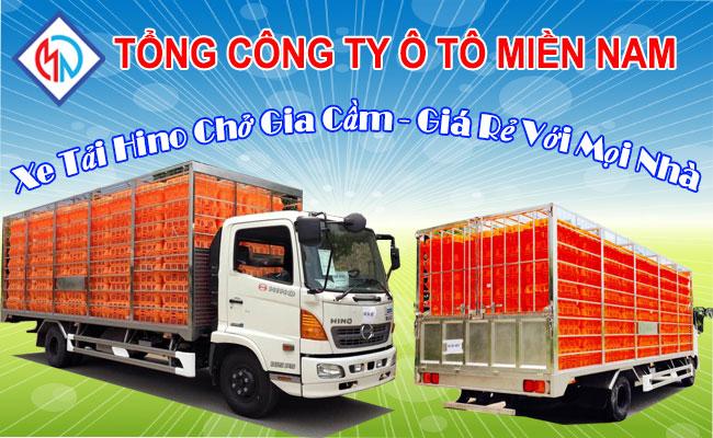 Gía xe tải Hino chở gia cầm bị chi phối do đâu?